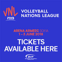2018 FIVB Volleyball Nations League - Билети ©